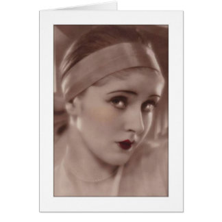 coy beauty from the deco age card