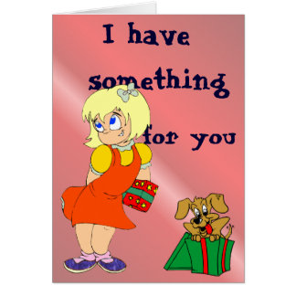 Coy Birthday Girl Card
