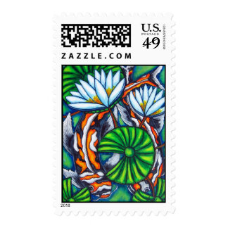 Coy Carp Colorful Stamps