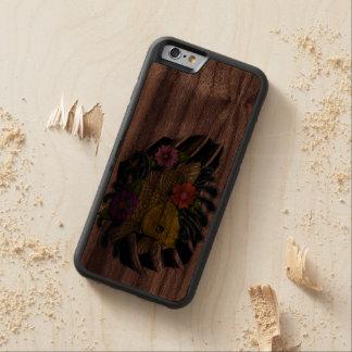 coy carp tattoo carved® walnut iPhone 6 bumper