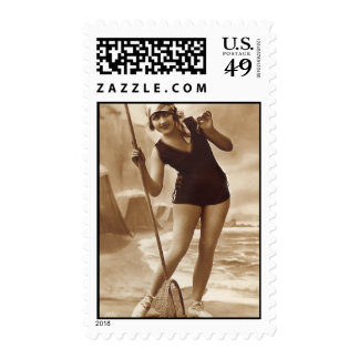 Coy Cutie Postage Stamps