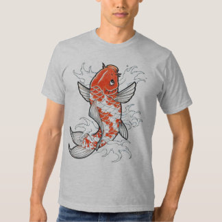 Coy Fish semi fitted gray mens tshirt