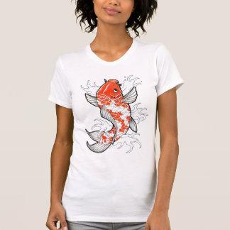 Coy Fish Tattoo Style white vintage womens tshirt