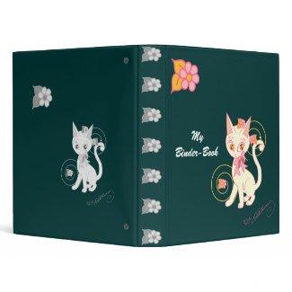 Coy Kitty Notebook Binder Pine Green binder