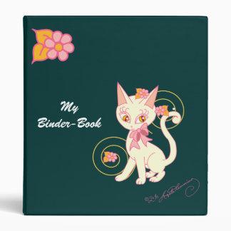 Coy Kitty Notebook Binder Pine Green
