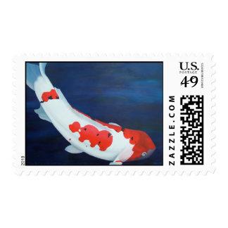 Coy Koi Postage Stamp