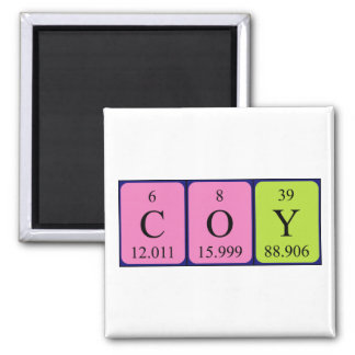 Coy periodic table name magnet
