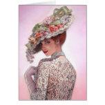 "Coy Victorian Lady ""Betty Lu"" Greeting Card"