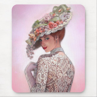 """Coy Victorian Lady """"Betty Lu"""" Mouse Pad"""