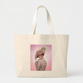 """Coy Victorian Lady """"Betty Lu"""" Tote Bags"""
