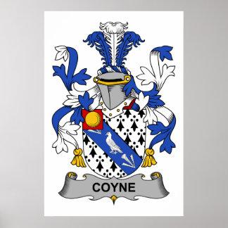 Coyne Family Crest Poster