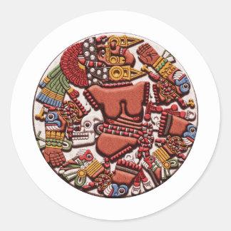 Coyolxauhqui Classic Round Sticker