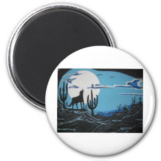 Coyote 2 Inch Round Magnet