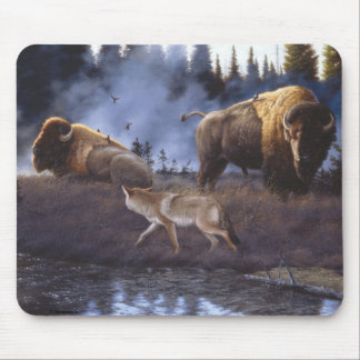 Coyote and Buffalo Mouse Pad