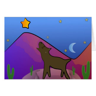 Coyote and Star Greeting Card