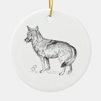 Coyote Ceramic Ornament