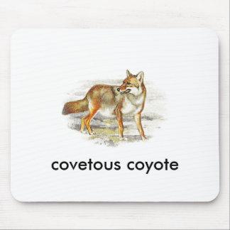 coyote codicioso alfombrillas de ratones