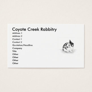 Coyote Creek Rabbitry Business Card