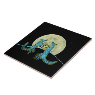 Coyote Crooners Ceramic Tile