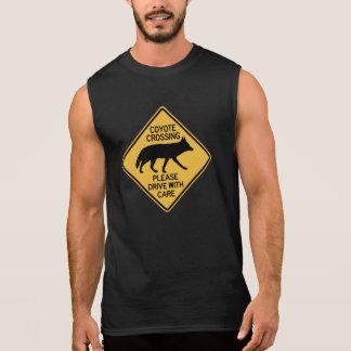 Coyote Crossing Traffic Warning Sign USA Sleeveless Shirt