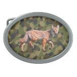 Coyote de la caza en Camoflage BG - chacal Hebilla Cinturon Oval