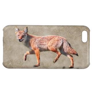 Coyote de la caza en el camuflaje BG - lobo de