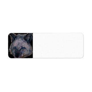 Coyote de neón (cepillado) etiqueta de remite