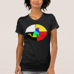 Coyote del arco iris camiseta