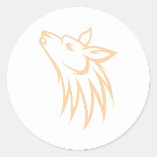 Coyote del grito pegatina redonda