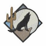 Coyote del interruptor sudadera bordada con capucha
