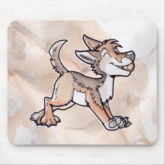 Coyote del oro del tonto alfombrillas de raton