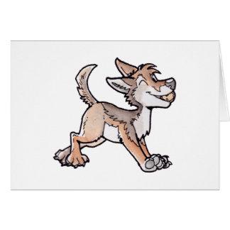 Coyote del oro del tonto tarjeta de felicitación