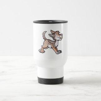 Coyote del oro del tonto taza