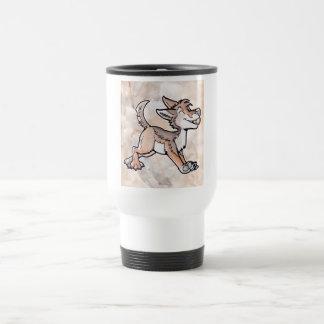 Coyote del oro del tonto taza de café