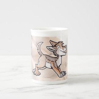 Coyote del oro del tonto taza de porcelana