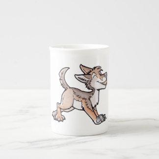 Coyote del oro del tonto tazas de porcelana
