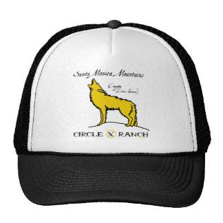Coyote del rancho del círculo X Gorras De Camionero