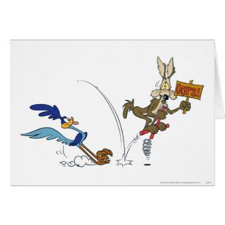 Coyote del Wile E y productos 7 de la cumbre del Tarjeta De Felicitación