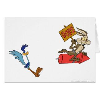 Coyote del Wile E y productos de la cumbre del Tarjeta De Felicitación