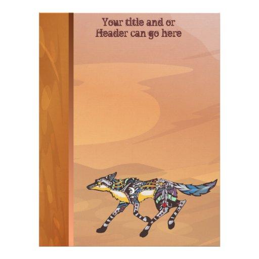 Coyote el papel con membrete del Trickster Membrete A Diseño