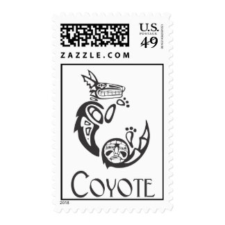 Coyote encrespado sello