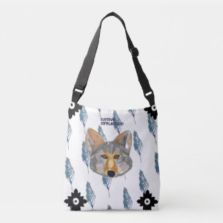Coyote Feather Crossbody Bag