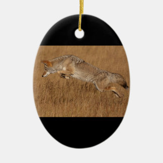 Coyote Flying Ceramic Ornament