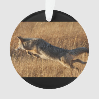 Coyote Flying Ornament