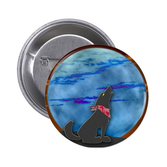 Coyote Howling at the Blue Moon Button