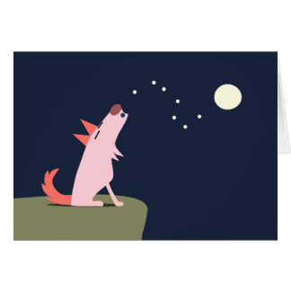 Coyote Howling at the Moon Greeting Card
