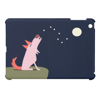 Coyote Howling at the Moon iPad Mini Cover