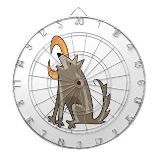 COYOTE HOWLING DARTBOARD WITH DARTS