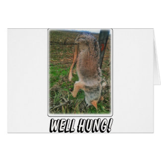 COYOTE HUNT - WELL HUNG OVER FENCE CARD