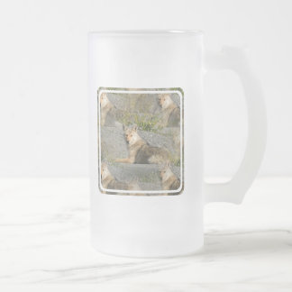 Coyote Images Frosted Beer Mug